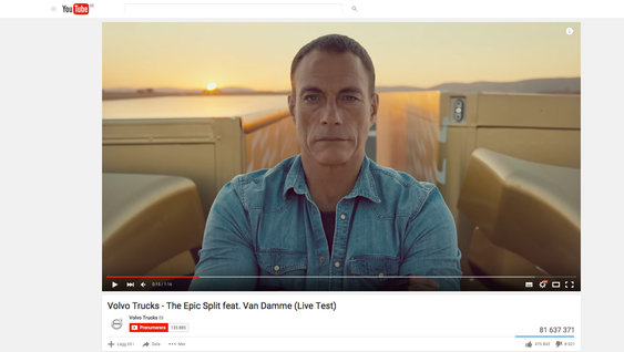 YouTube'da Volvo Trucks videoları