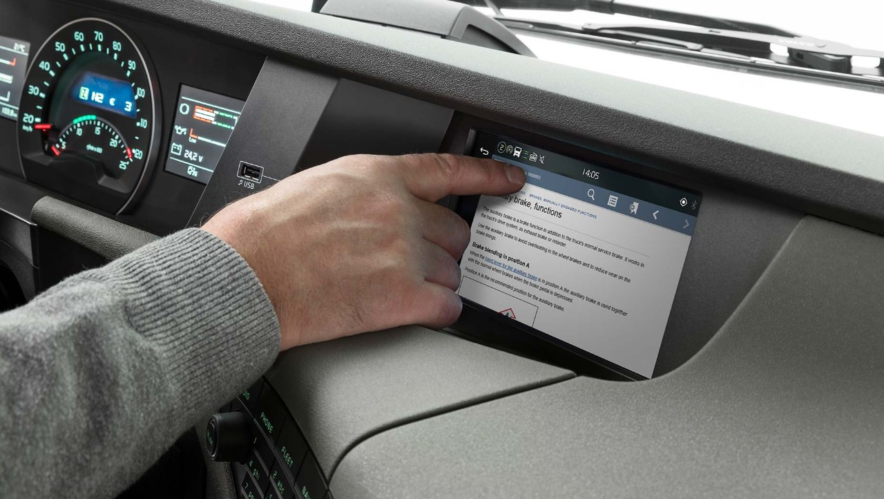 Driver's handbook in integrated display